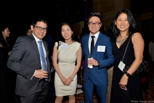 2017 Annual Dinner - James Yu, Ellis (2017 Scholar), Jin Kim (2016 Scholar), Jean Lee (DHL Board) - KZ